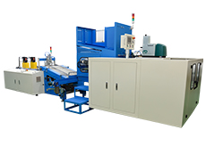 Six-shaft Automatic Aluminum Foil / Cling Film Rewinder Automatic Rewinding & Shrink Film Packaging Machine (AH-6S + TPG50)